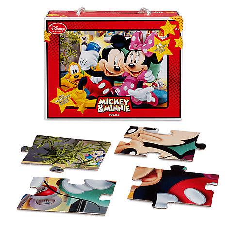 Puzzle 32 pièces Mickey et Minnie Mouse