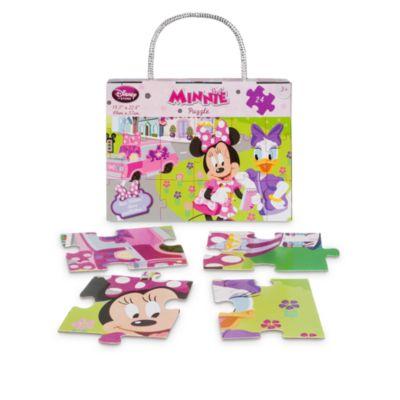 Puslespil med 24 brikker, Minnie Mouse og de glade hjælpere