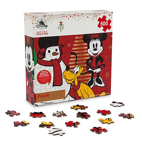 Micky Maus und seine Freunde - 500-teiliges weihnachtliches Puzzle