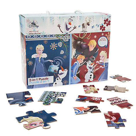 Puzzles2en1Joyeuses fêtes avec Olaf