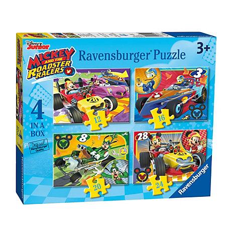Set di puzzle 4 in 1 Topolino Roadster Racers