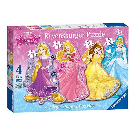 Set de 4 puzles grandes en forma de princesas Disney