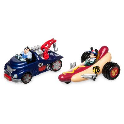 Mickey Mouse Racerholdet-legetæppe og køretøjer