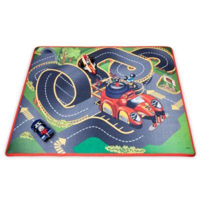 Musse Pigg Racergänget-lekmatta och fordon