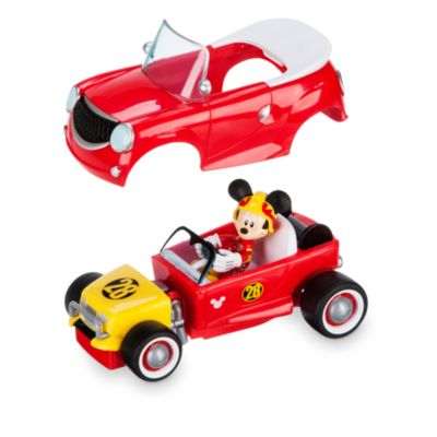 mickey pilote de course et sa voiture convertible. Black Bedroom Furniture Sets. Home Design Ideas