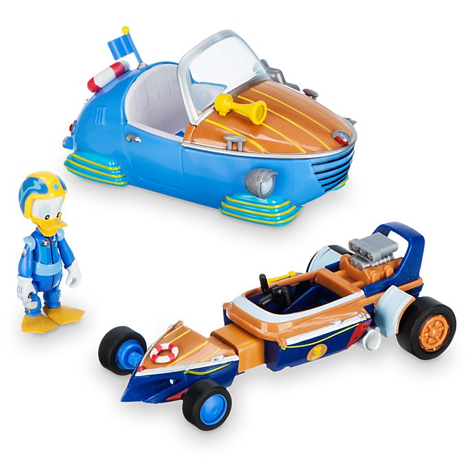 Coche de carreras transformable Pato Donald