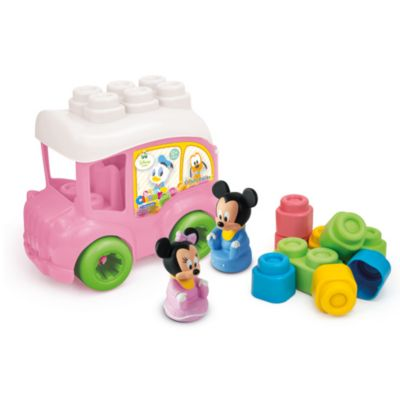 Minnie Mouse bus med klodser, Baby Clementoni