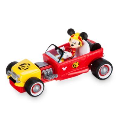 Mickey pilote de course et sa voiture convertible