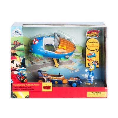 Donald pilote de course et sa voiture convertible