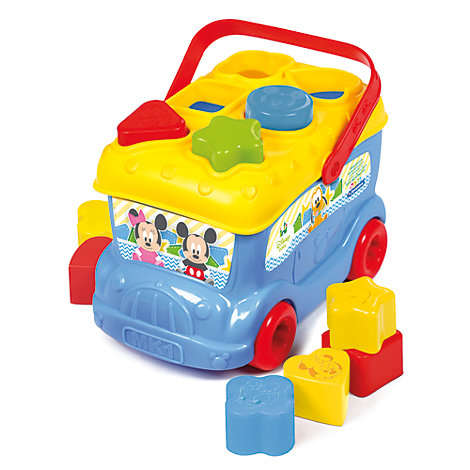 Mickey Mouse Shape Sorter Bus, Baby Clementoni
