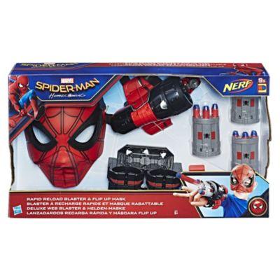 Spider-Man: Homecoming Rapid Reload Blaster og maske, der kan flippes op