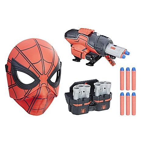 Disparador de dardos de carga rápida y máscara abatible de Spider-Man: Homecoming