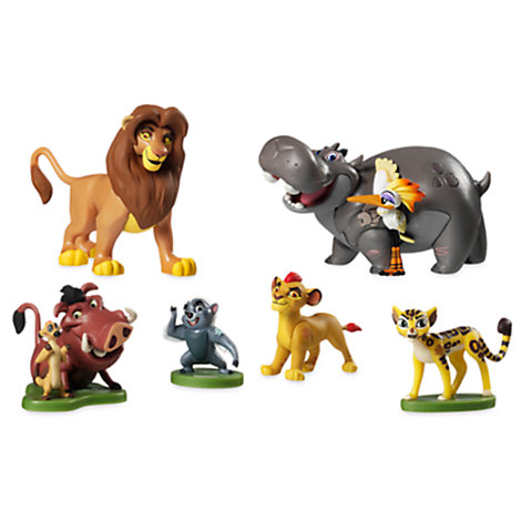 Set da gioco con personaggi The Lion Guard