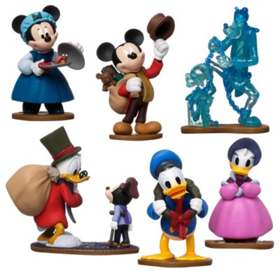 Mickey's Special Edition Christmas Carol Figurines, Set of 7