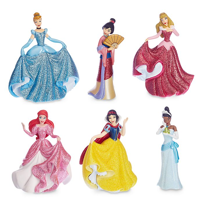 Set de figuritas princesas Disney (trajes de fiesta), Disney Store