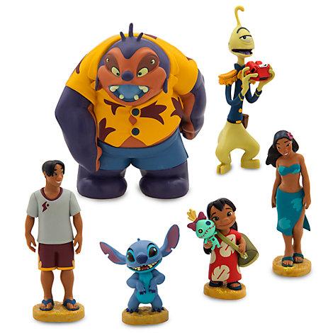 Set de figuritas de Lilo y Stitch