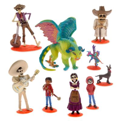 Disney Pixar Coco Deluxe Figurine Set of 9