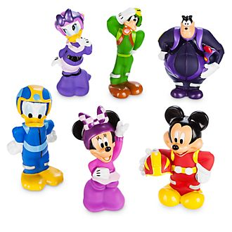 Disney Store Mickey Mouse Roadster Racers Bath Toy Set
