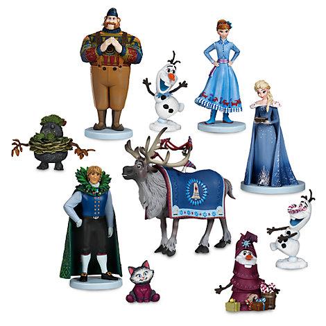 Ensemble de figurines de luxe Joyeuses fêtes avec Olaf
