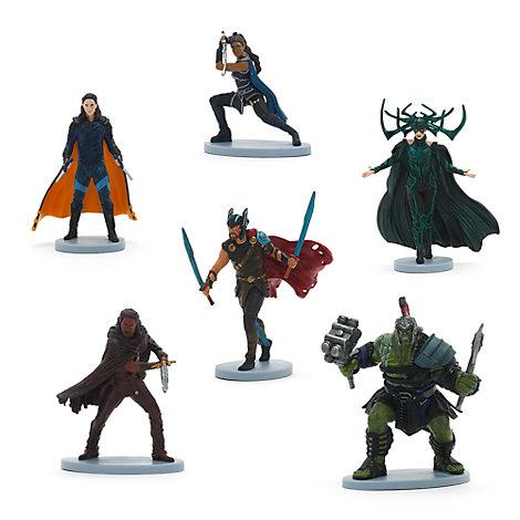 Set da gioco con personaggi Thor Ragnarok