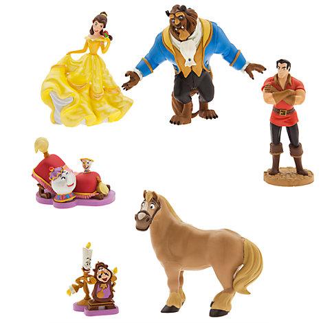 Ensemble de figurines La Belle et la Bête