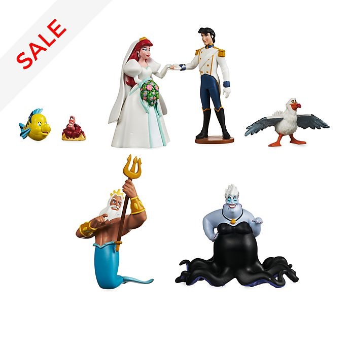 Disney Store The Little Mermaid Wedding Figurine Playset
