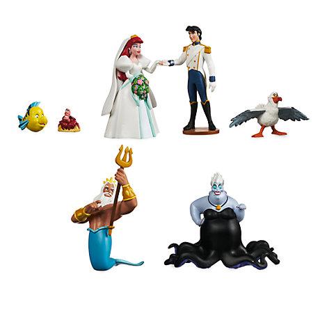 Set da gioco personaggi matrimonio La Sirenetta