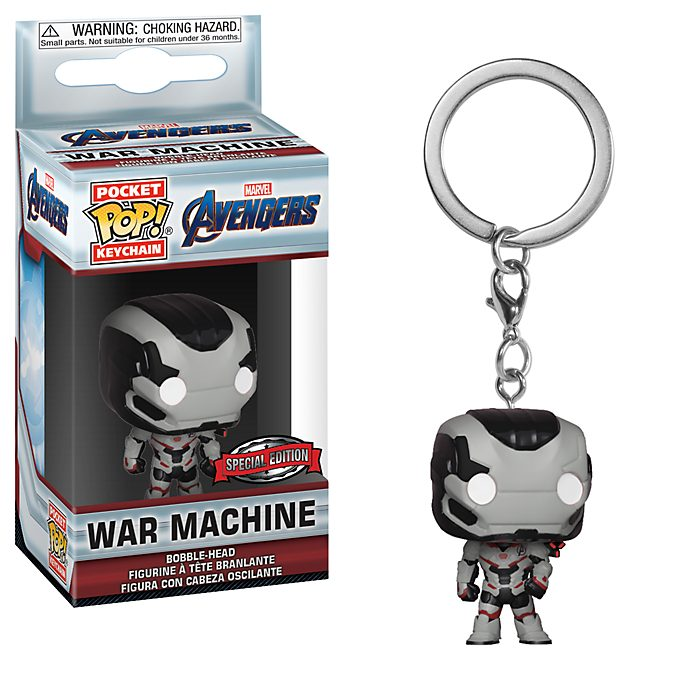 Funko - War Machine - Pop! Vinylfigur, Schlüsselanhänger; Avengers: Endgame