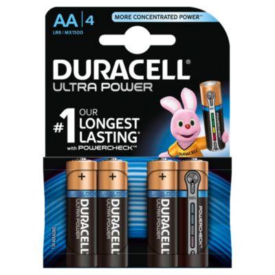 Duracell Ultra Power Alkaline AA-batterier, pakke med 4