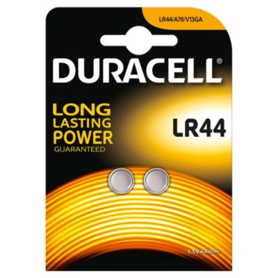 Pilas de botón alcalinas Duracell Specialty LR44, paquete de 2