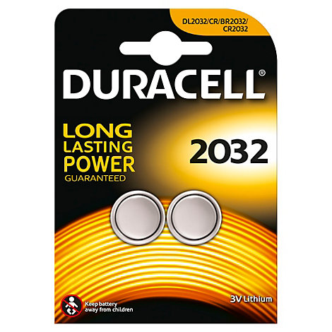 Duracell Specialty 2032 Lithium Coin Battery, Pack of 2