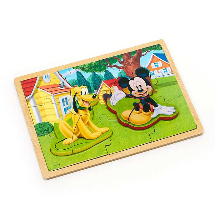 Mickey and Pluto Wooden Inlay Puzzle
