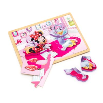 Minnie and Daisy Wooden Inlay Puzzle
