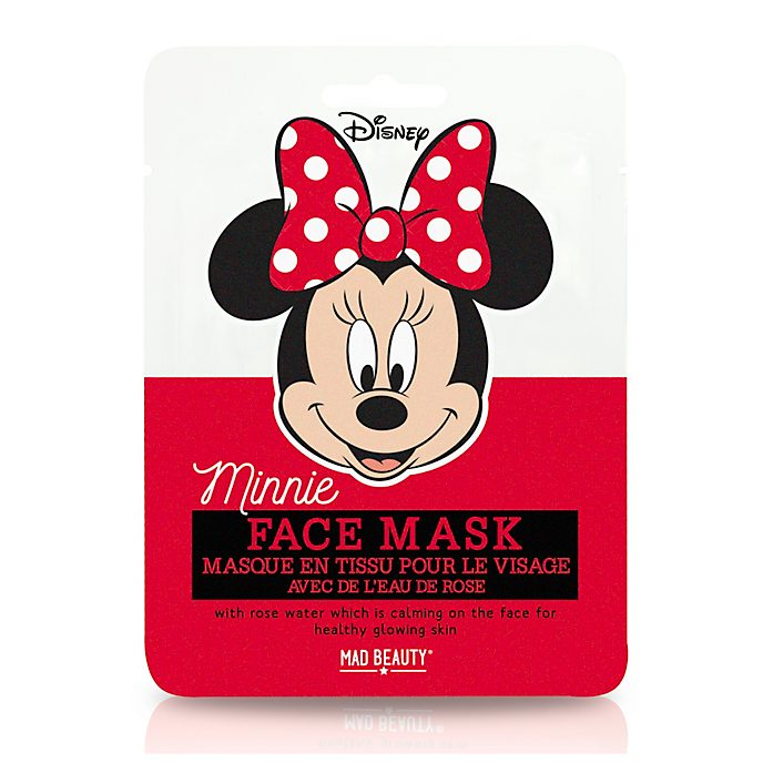 Mascarilla Minnie Mouse con agua de rosas de Mad Beauty