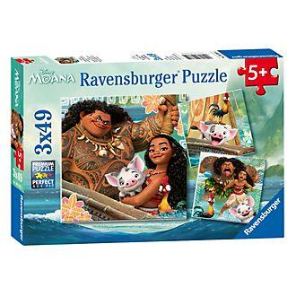 Ravensburger - Vaiana - Set mit 3 Puzzles (je 49 Teile)