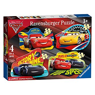 Ravensburger Lot de 4 grands puzzles silhouette Disney Pixar Cars