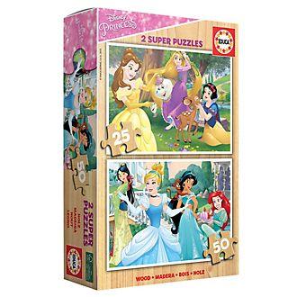 Set puzzle in legno Principesse Disney