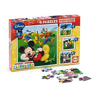 Educa Lot de 4puzzles La Maison de Mickey