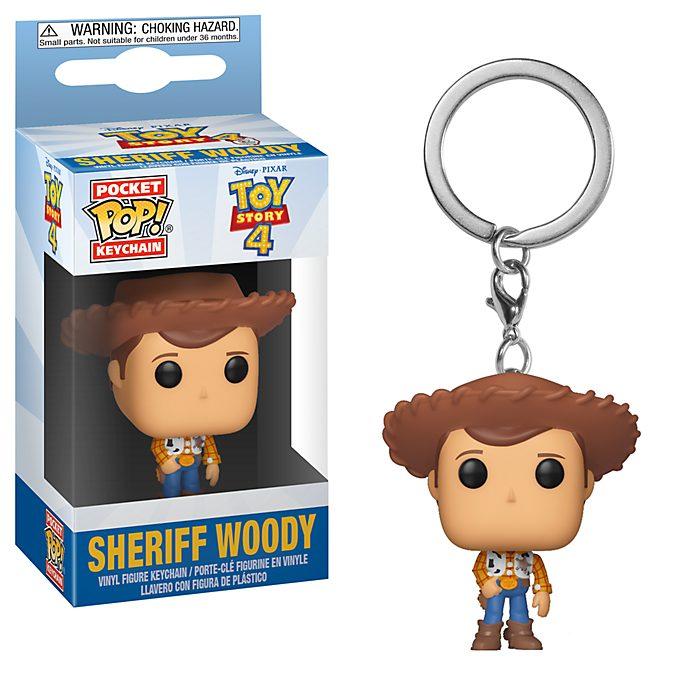 Funko Porte-clés Shérif Woody Pop!en vinyle, Toy Story4