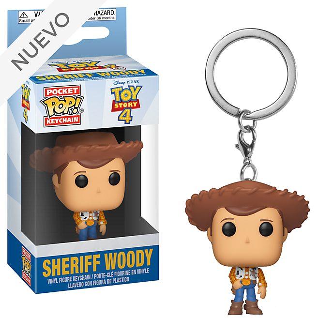 Llavero vinilo Pop! Sheriff Woody, Toy Story4, Funko