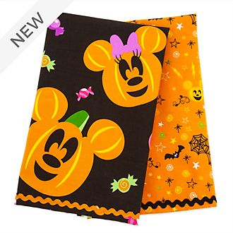 Disney Store Mickey and Minnie Halloween Tea Towels