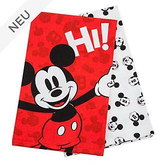 Disney Store - Disney Eats - Micky Maus - Geschirrtücher, 2-teiliges Set