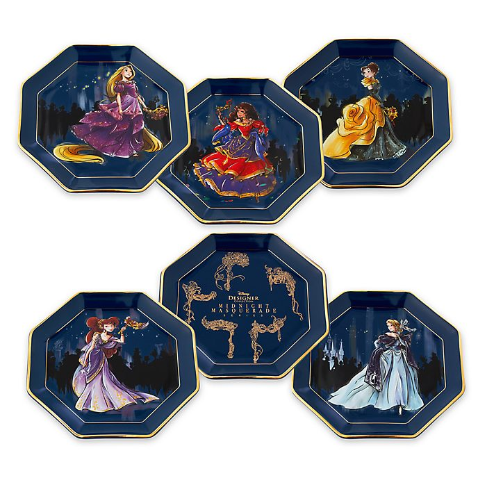 Disney Store Disney Designer Collection Plates, Set of 6