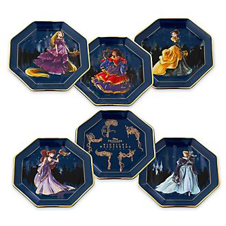 Disney Store Assiettes de fête Disney Designer Collection, lot de 6