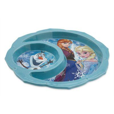 Assiette pailletée La Reine des Neiges