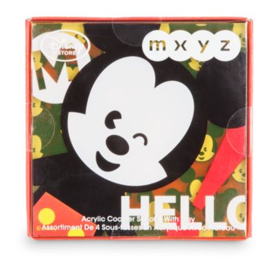 Mickey Mouse MXYZ Coaster, Set of 4