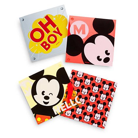 Mickey Mouse MXYZ bordskåner, sæt med 4 stk.