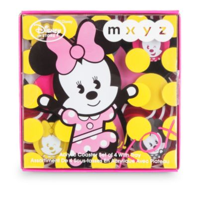 Minnie Mouse MXYZ bordskåner, sæt med 4 stk.