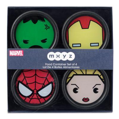 Contenitori per alimenti Marvel MXYZ, set di 4
