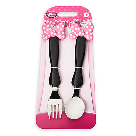 Minnie Mouse Fork And Spoon Set